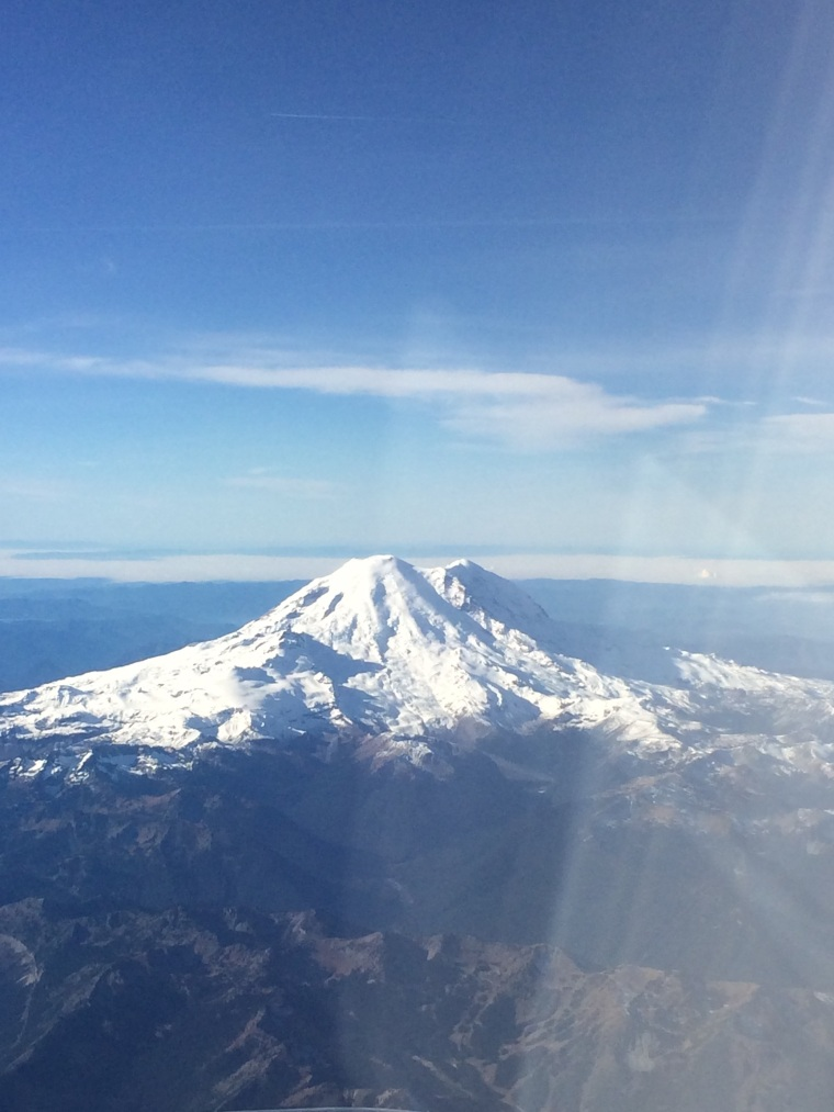 View on the flight into Seattle